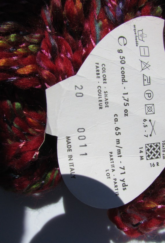 Variegated Wool Yarn Stacy Charles Fine Yarns Baci Discontinued Choose  Color Red Blue