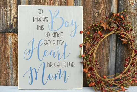 Gift For Mom - Boy Mom Gift - Newborn Gift - Mommy and Me - Sign with  Quotes - Little Boy Sign - Boy Room Decor - Baby Shower Gift