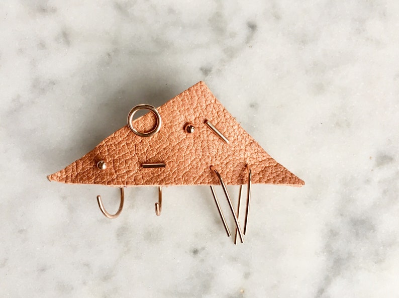 minimal mismatch mix match earrings in solid gold gold fill image 0