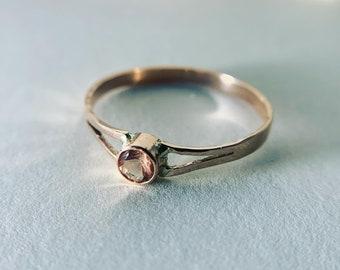 Oregon sunstone ring in 14k gold
