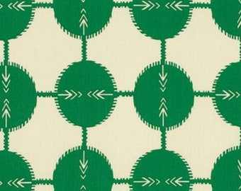 18 x 40 LAMINATED remnant cotton fabric  - Field Study Green, BPA free, CPSIA compliant--creases