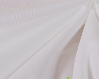 """18"""" x 50"""" White ProSoft Food Safe PUL lining fabric Remnant -great for lining snack bags, bibs--small stain on edge"""