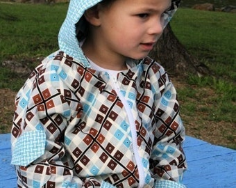 Downtown Hooded Jacket Sewing Pattern by Make It Pefect - Fits 6 months - 5 years