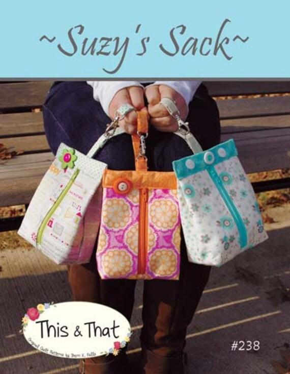 Suzy es Sack Papier Schnittmuster nicht Pdf von dies & das | Etsy
