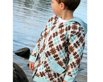 Hooded Jacket Raincoat Sewing Pattern - Downtown by Make It Pefect, Sizes 6 - 10 years