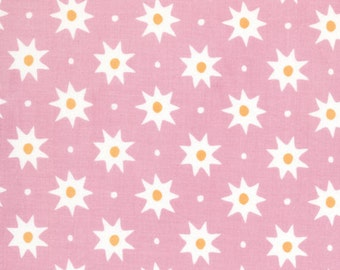 14 x 56 LAMINATED cotton fabric remnant - Sun Rose Pink, BPA free, CPSIA compliant