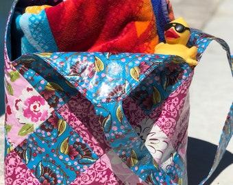 Mondo Bag Sewing Pattern kit - includes grid interfacing, Scrap buster, Makes great laminated bags