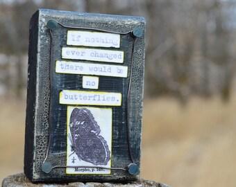 Butterfly wings art, Butterfly Quote, Inspirational Art on Wood, by Jodene Shaw