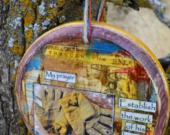 Western Wall Art, Cowboy Wall Art, Country Western, Scripture Wall Art, Bible Verse Wall Art, Mixed Media by Jodene Shaw