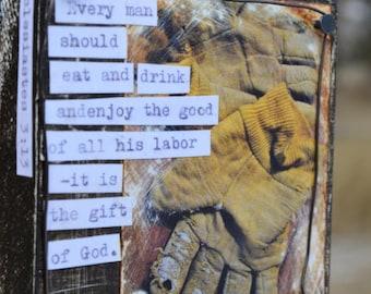 Enjoy the Good. scripture art block