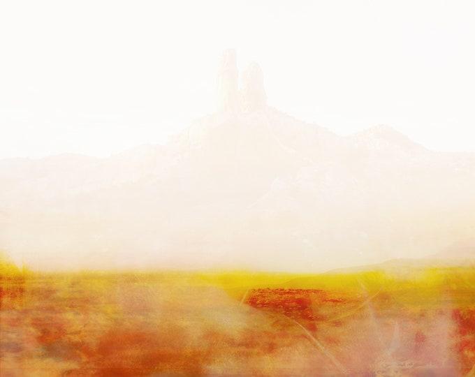 "Desert Landscape Photography ""Morning Light Falls / Abiquiu 22"""