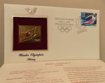 Winter Olympics Skiing Stamp  22 Karate First day Issue