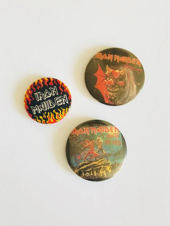 BLUE OYSTER CULT Pinback Vintage Button 1976 Rare Heavy Metal Black Sabbath Iron Maiden Classic Rock Collectable Metallica