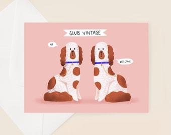 Vintage Dog Birthday Card