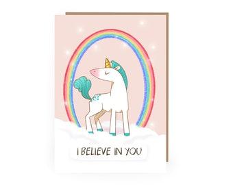 Unicorn Greetings Card