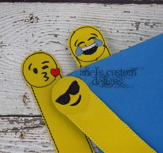 Emoji Bookmark Bookmarks Birthday Party Favor
