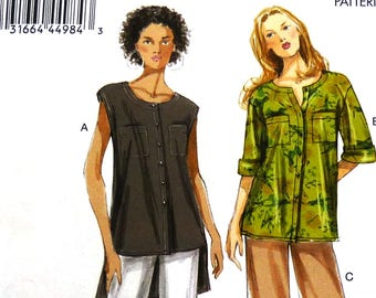 Vogue 8912 sewing pattern, blouse and shorts or pants, very easy vogue, casual wear, summer wear, sizes 8-10-12-14-16 UNCUT