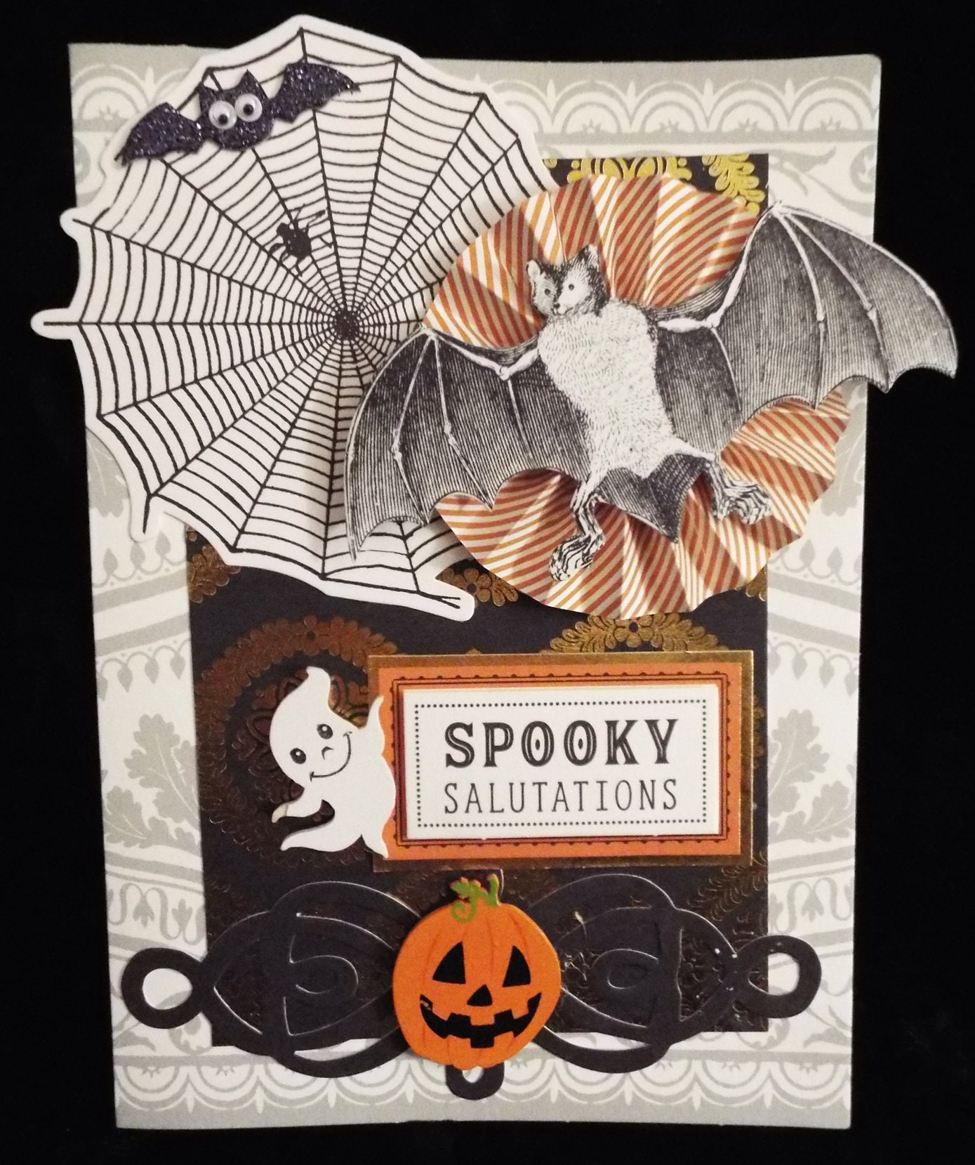 spooky salutations halloween card | etsy