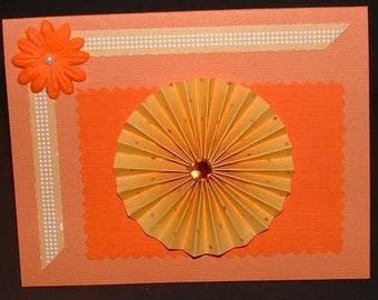 Orange Rosette Card You Personalize