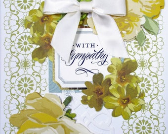 With Sympathy Yellow Roses 2018 Card Handmade