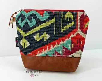 AVA Clutch Medium - Fiesta with PU Leather READY to SHIp