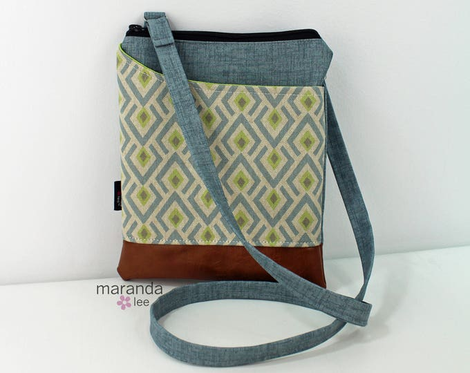 ZOE Messenger Cross Body Sling Bag - On Point Blue and PU Leather READY to SHIp