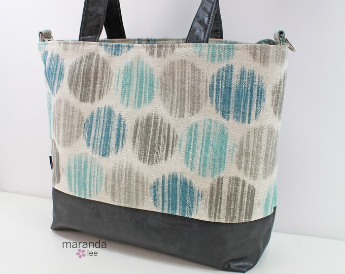 Extra Large Lulu Tote in Smoke Dots READY to SHIP