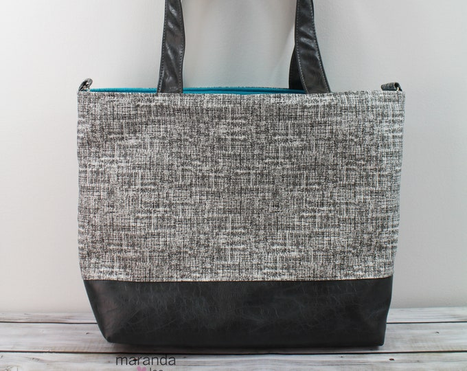 Extra Large Lulu Tote - Weathered Gray READY to SHIP