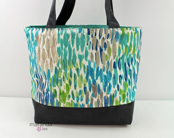 Lulu Large Tote in Blue Rain READY to SHIP
