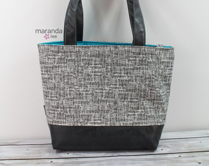 Lulu Large Tote  Weathered Gray  -READY to SHIP