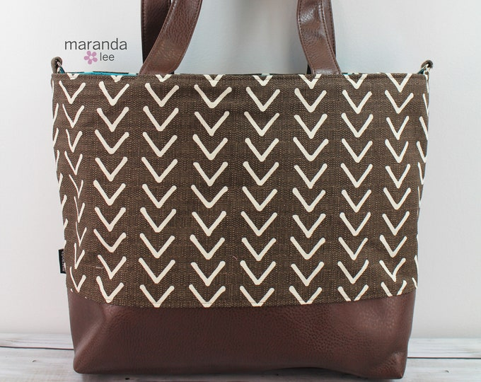 Extra Large Lulu Tote Brown On Point READY to SHIP