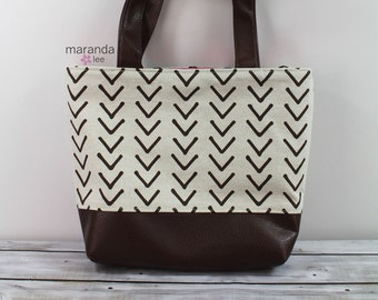 Lulu Large Tote Brown On Point READY to SHIP