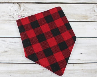 Bandana Bib -Buffalo Check  READY to SHIP