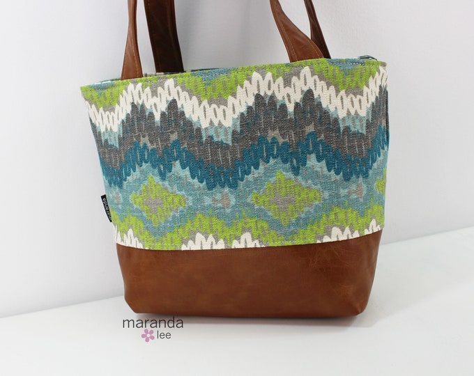 Lulu Medium Tote  Bag Chino READy to SHIp Zipper Closure