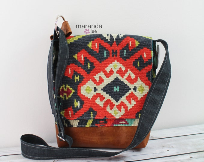 Nori Medium Flap Messenger - Fiesta - READY to SHIP