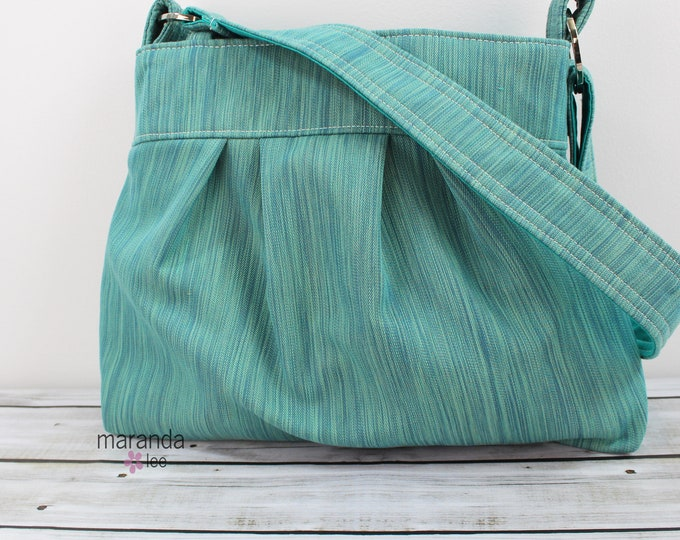 Emma Bag Medium Teal Denim  READY to SHIP