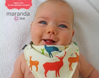 Bandana Bib -Elk Fam Multi-Organic Cotton-READY to SHIP