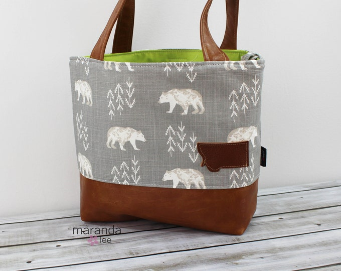 Lulu Medium Tote Bears with Montana Leather Patch  READy to SHIp