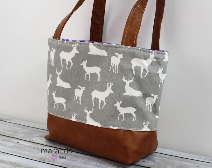 Lulu Medium Tote Grey Deer READy to SHIp