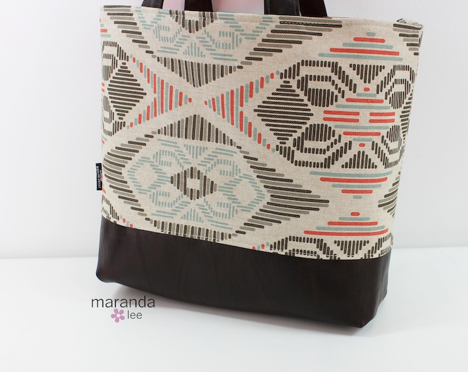 Lulu Large Tote Diaper Bag Aztecl READY to SHIP