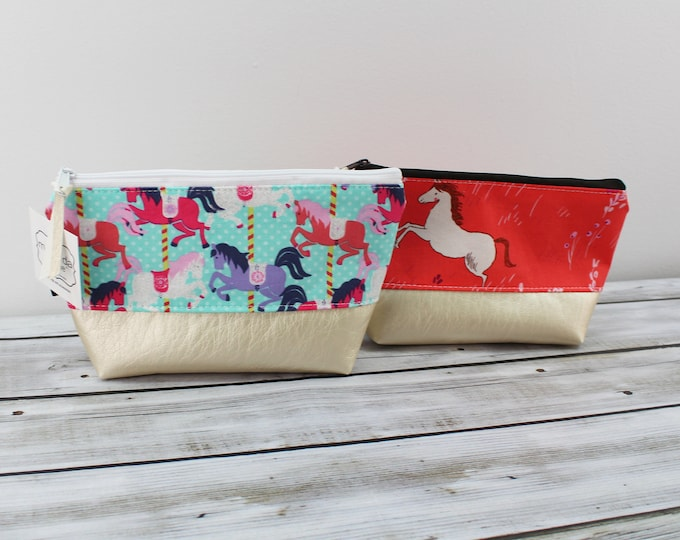 AVA Small Clutch - Carousel or Horses  READY to SHIP