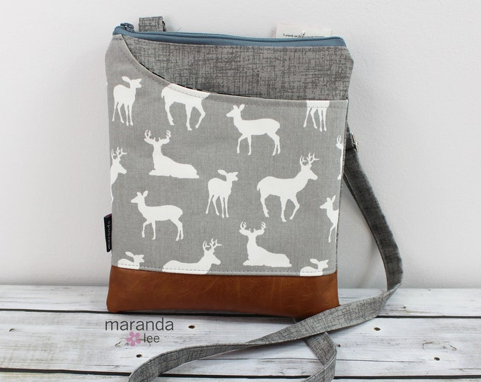 ZOE Messenger - Deer Gray READY to SHIp