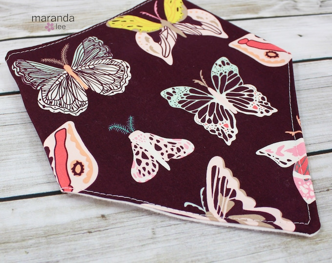 Bandana Bib -Butterflies -READY to SHIP