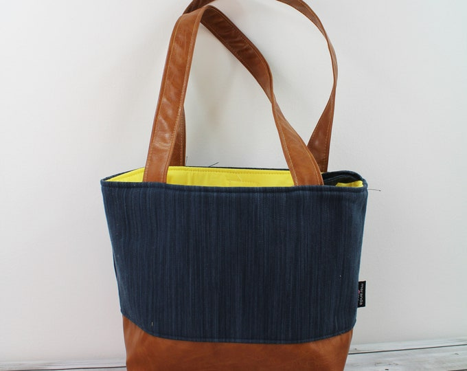 Lulu Medium Tote Navy Denim READY to SHIP