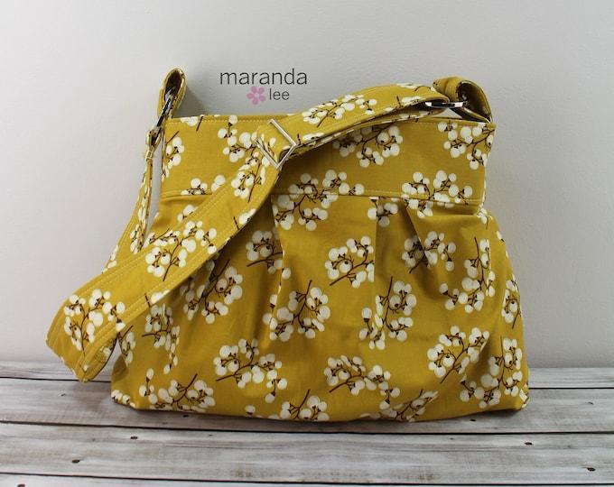 Emma Bag Medium Purse - Mustard Blossoms- READY to SHIP