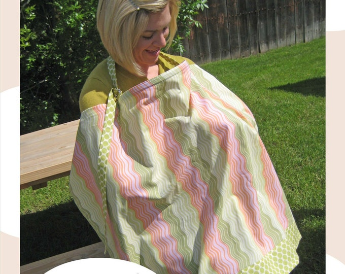 Nursing Cover  Sewing Pattern - PDF Pattern - Easy Nursing Coverup Pattern Download - Boutique - Beginner
