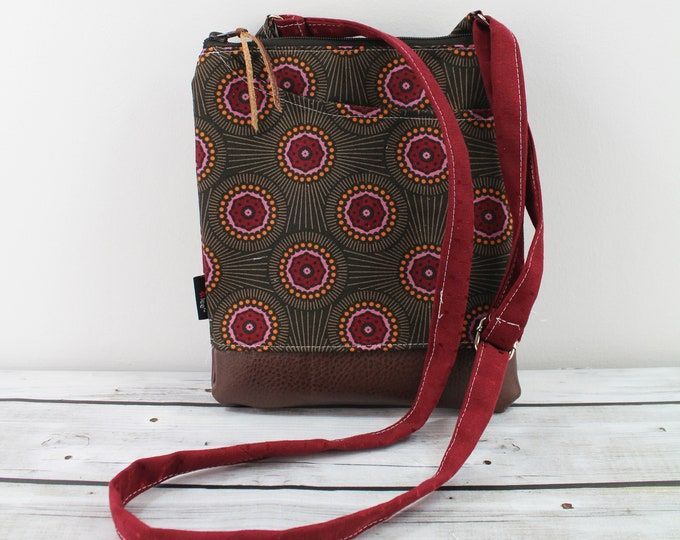 ZOE Messenger Cross Body Sling Bag - Cosmic and PU Leather READY to SHIp