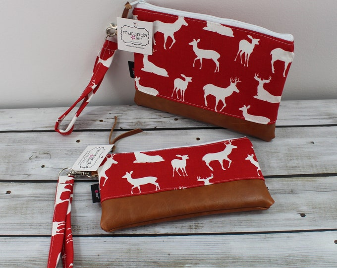 Flat Clutch -Red Deer - READY to SHIP
