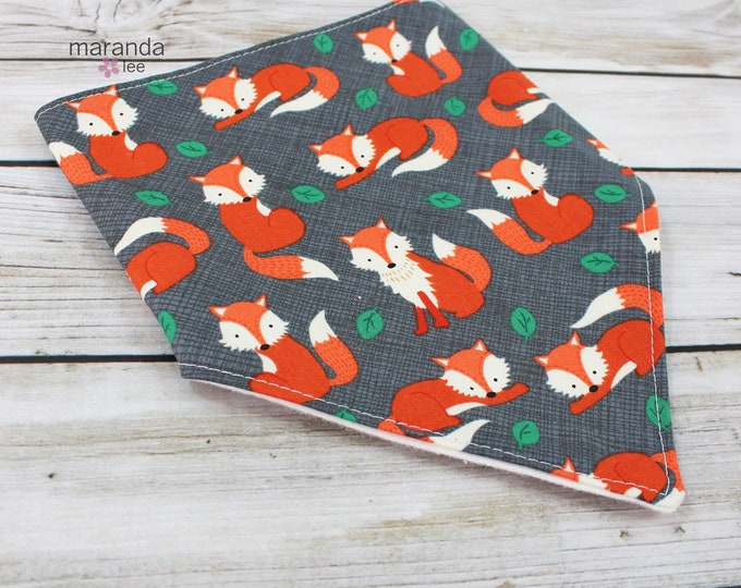 Bandana Bib -Fox - READY to SHIP