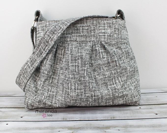 Emma Diaper Bag Purse Medium Weathered Gray  READY to SHIP
